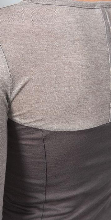 Splendid Sheer/Opaque Knits Scoop Neck Top