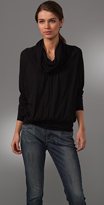 Splendid Jersey Cowl Top