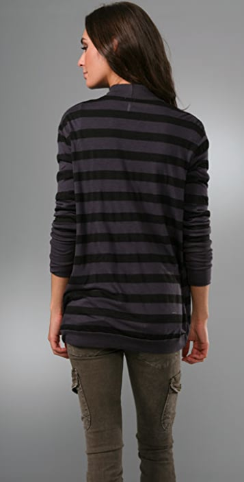 Splendid Rugby Stripe Cardigan