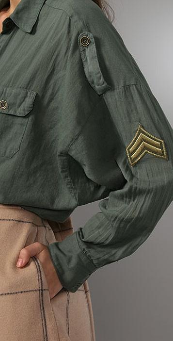 Splendid Military Dolman Blouse