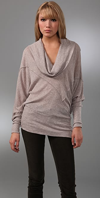 Splendid Poorboy Cowl Top