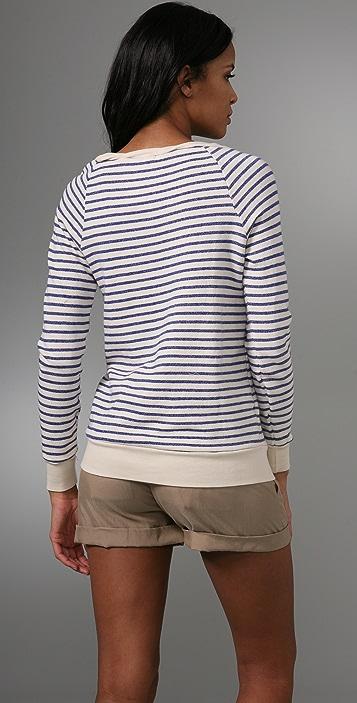 Splendid Nautical Stripe Active Long Sleeve Top