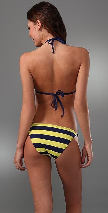 Splendid Reversible Marcel Stripe Bikini Top