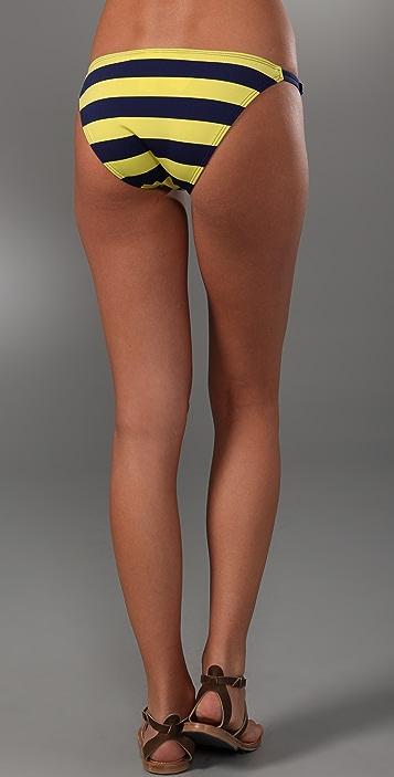 Splendid Marcel Stripe String Bikini Bottoms