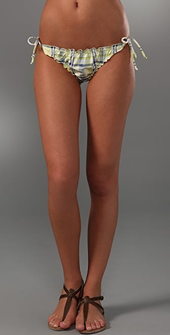 Splendid Parker Plaid Bikini Bottoms