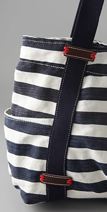 Splendid Striped Canvas Tote