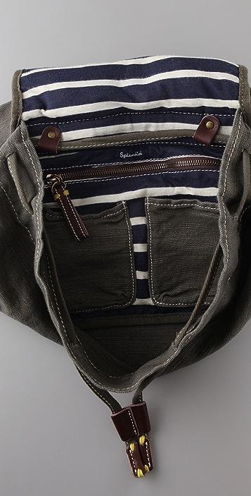 Splendid Solid Canvas Backpack