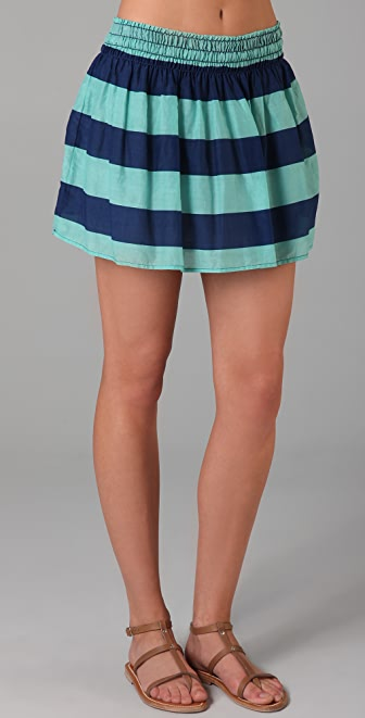 Splendid Superwide Rugby Stripe Skirt