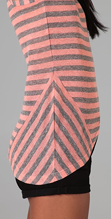 Splendid Gauzy Sheer Stripe Tank