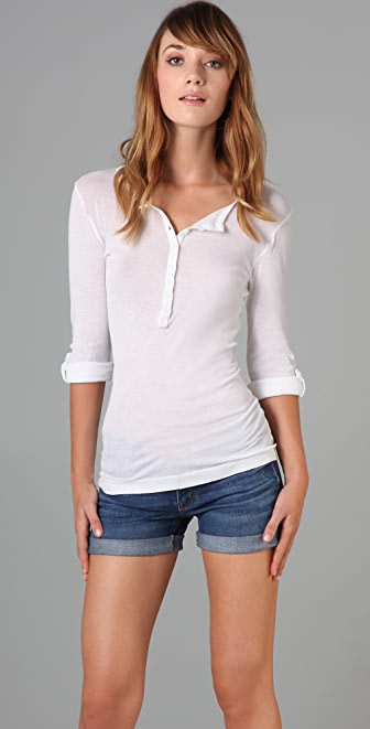 Splendid Vintage Whisper Henley Top