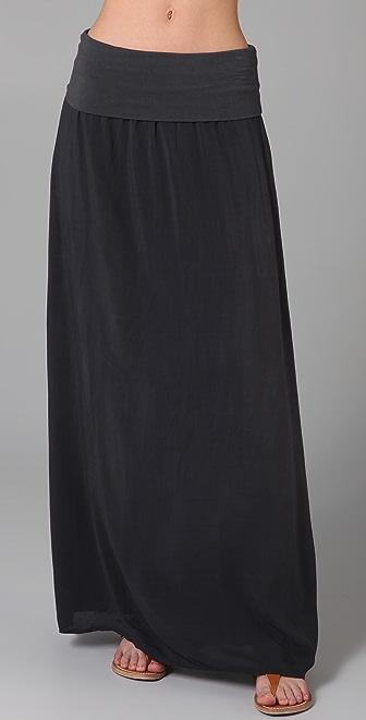 Splendid Jersey & Voile Maxi Skirt / Dress