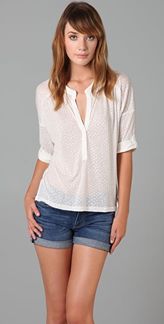 Splendid Ditsy Dot Blouse