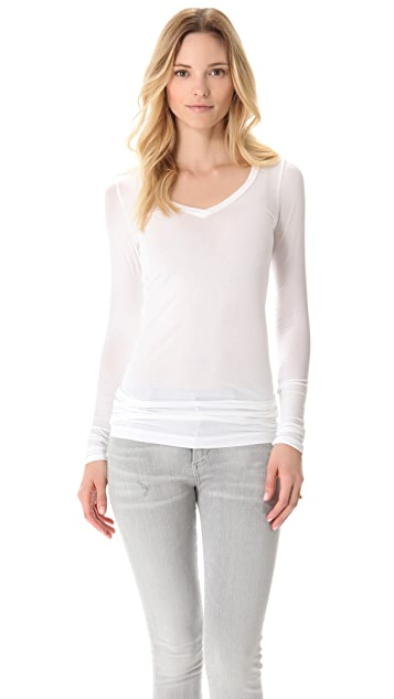 Splendid V Neck Layering Tee