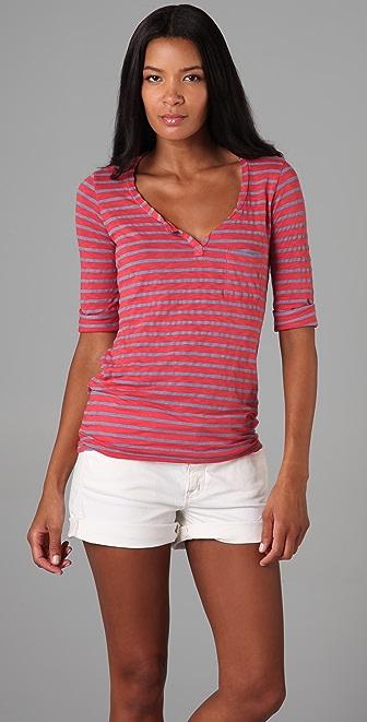 Splendid Chambray Stripe Top