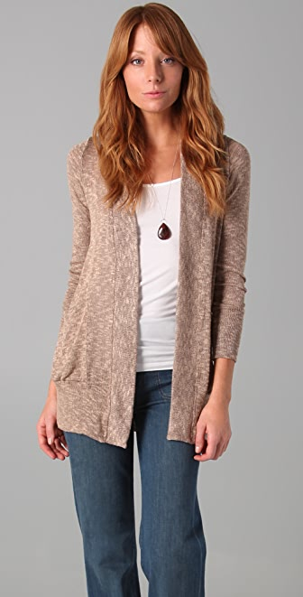 Splendid Melange Loose Knit Cardigan