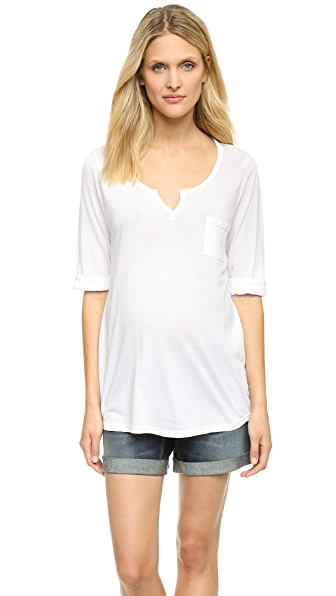 Splendid Maternity Fit Henley Top