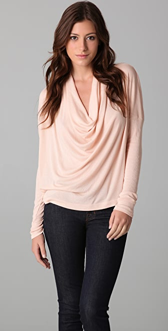 Splendid 2 x 1 Cowl Neck Top