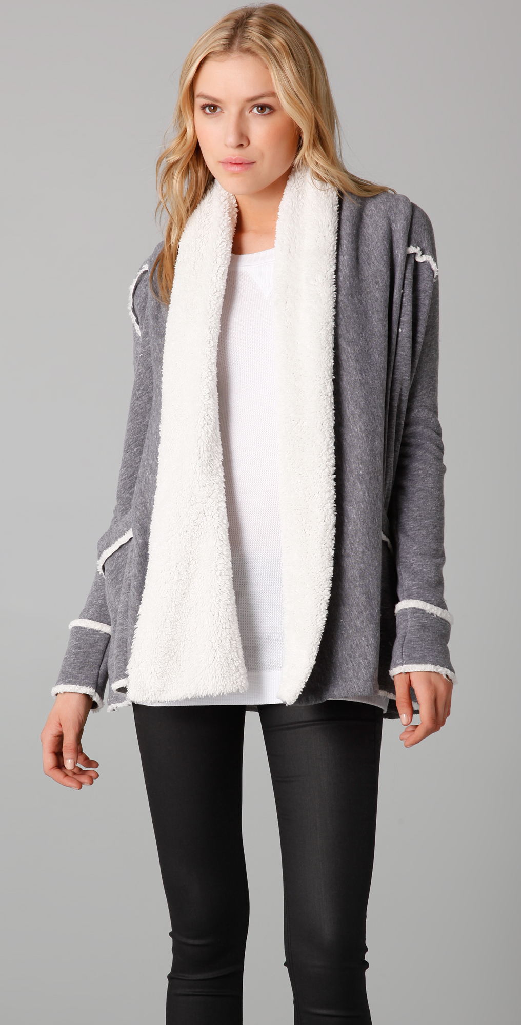 Splendid Sherpa Fleece Cardigan | SHOPBOP