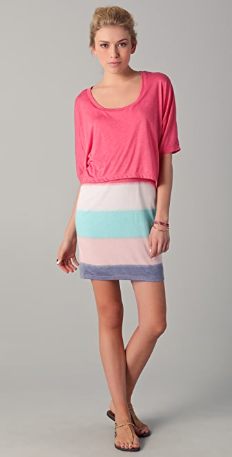 Splendid Mirage Stripe Layered Dress