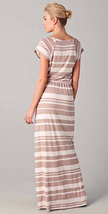 Splendid Maritime Stripe Maxi Dress