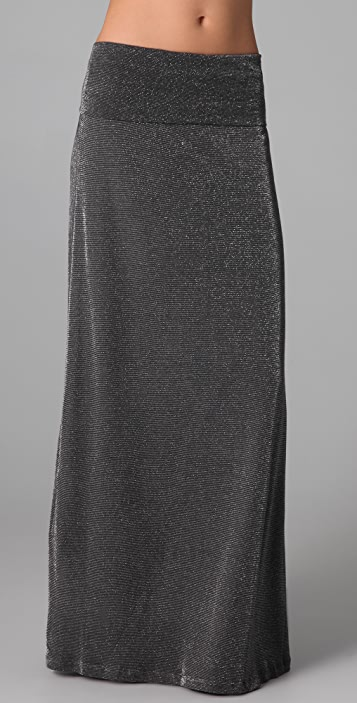 Splendid Lurex Maxi Skirt
