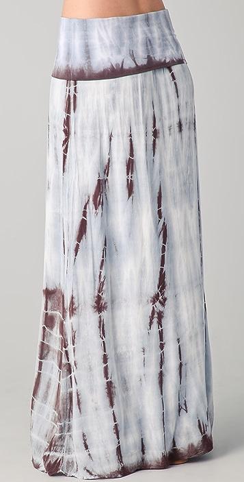 Splendid Feather Dye Maxi Skirt