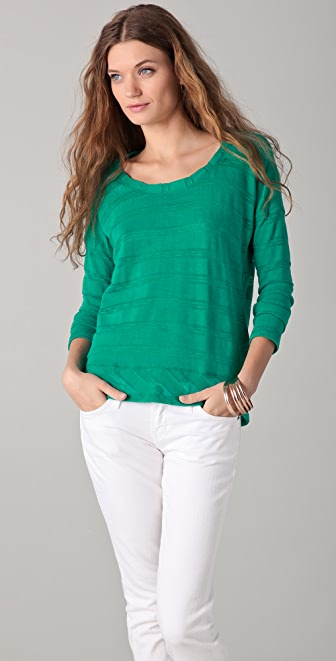 Splendid Slub Shadow Stripe Top