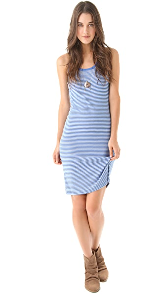Splendid Oatmeal Stripe 1x1 Tank Dress