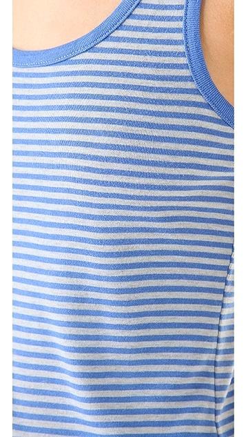 Splendid Oatmeal Stripe 1x1 Tank Dress