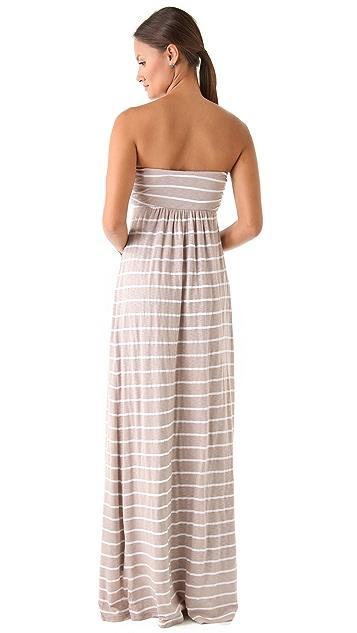 Splendid White Venice Stripe Maxi Dress