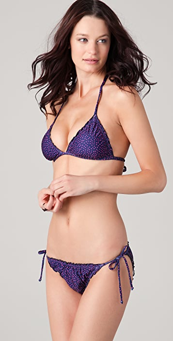 Splendid Leila Ruffle Bikini Top