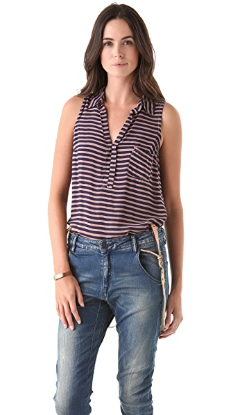 Splendid Sleeveless Pocket Top