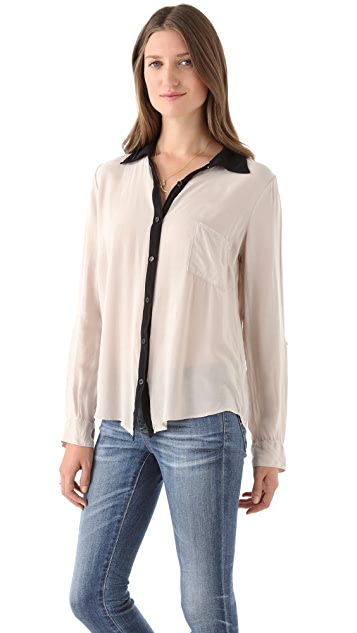 Splendid Button Down Top with Pocket