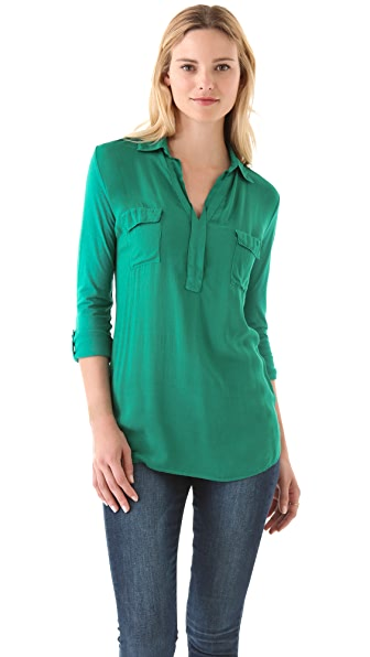 Splendid Two Pocket Henley Top