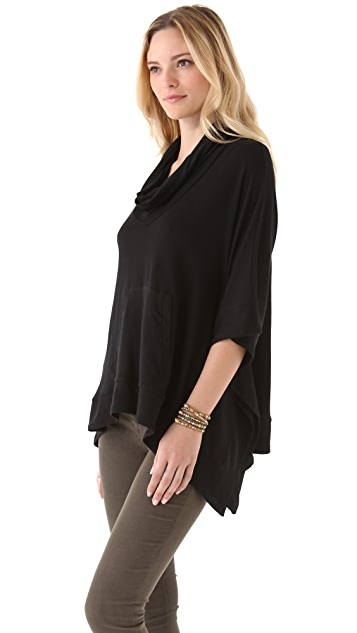 Splendid Super Soft Cowl Neck Poncho