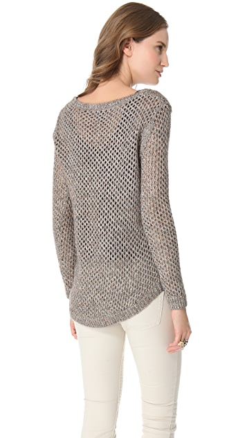 Splendid Twisted Metallic Sweater
