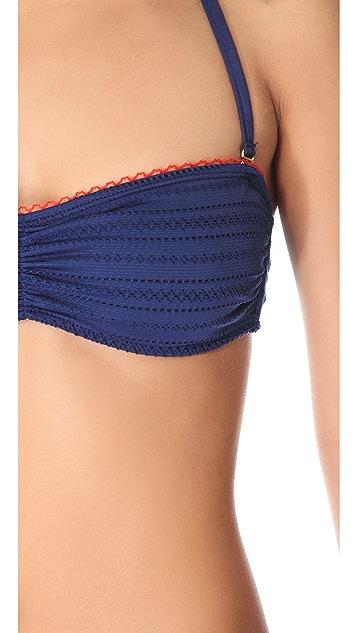 Splendid Ginger Eyelet Bandeau Bikini Top