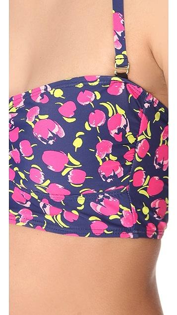 Splendid Farmers Market Bustier Bikini Top