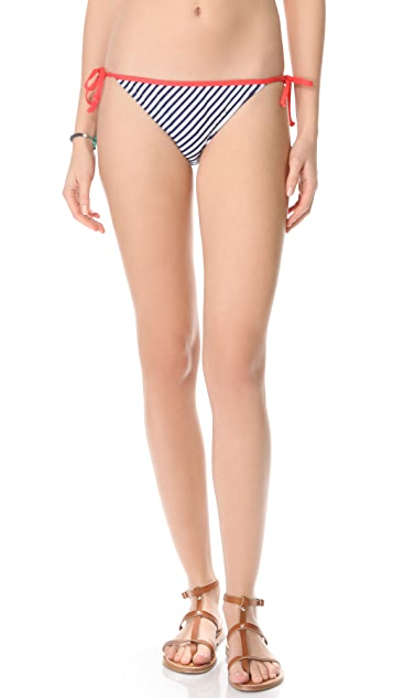 Splendid Malibu Stripe Bikini Bottoms