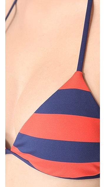 Splendid Marcel Stripe Reversible Bikini Top