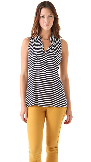 Splendid Hi Lo Striped Tank