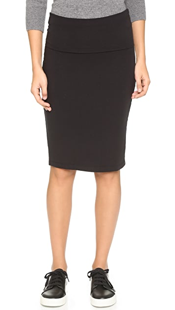 Splendid Fold Over Pencil Skirt