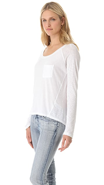 Splendid Very Light Jersey Pocket Tee