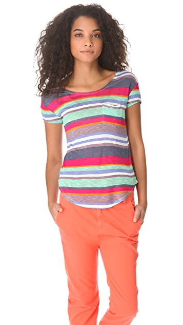 Splendid Pensacola Stripe Pocket Tee