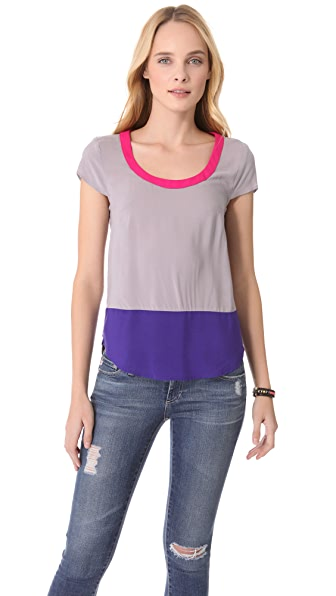Splendid Colorblock Tee