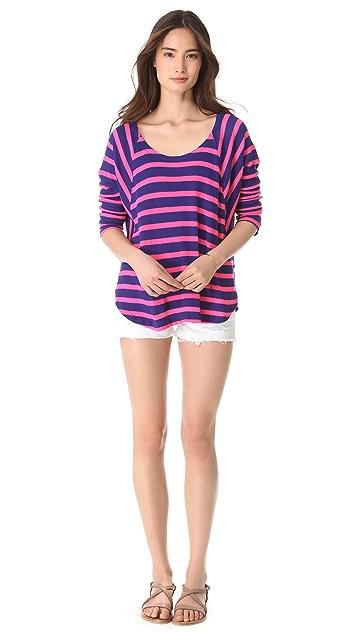 Splendid Neon Pop Thermal Pullover