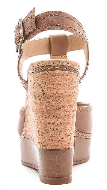Splendid Kane T-Strap Wedge Sandals