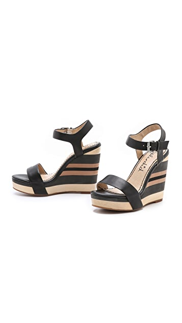Splendid Kikka Striped Bottom Wedges
