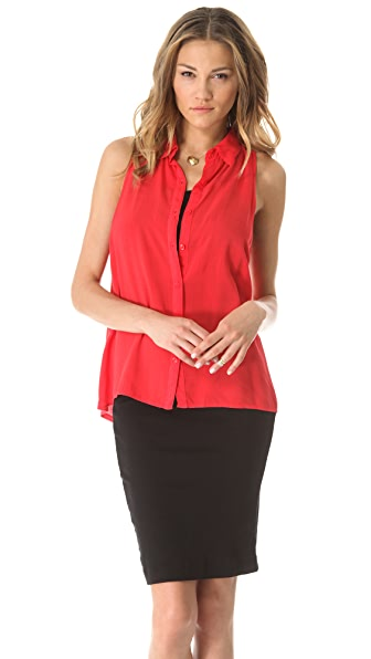 Splendid Shirting Sleeveless Button Down