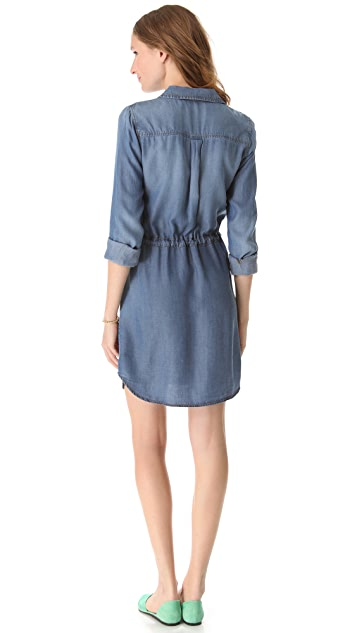 Splendid Indigo Chambray Dress